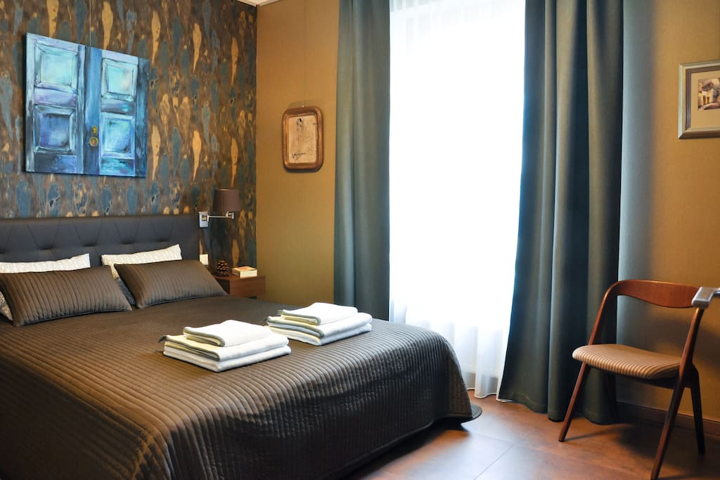 We have one comfortable double bed in master bedroom ...
