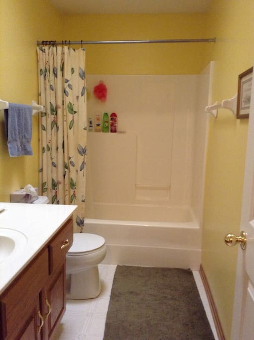 Full bath with amenities