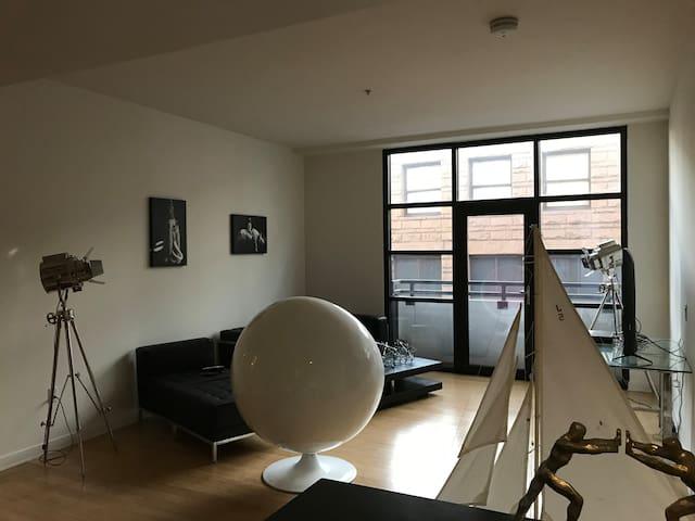 2 bedroom 2 bath industrial loft