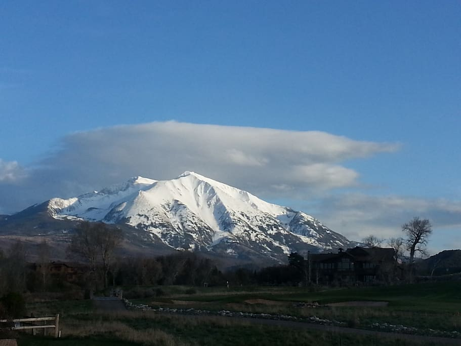 View of Mount Sopris from Master Bed Window