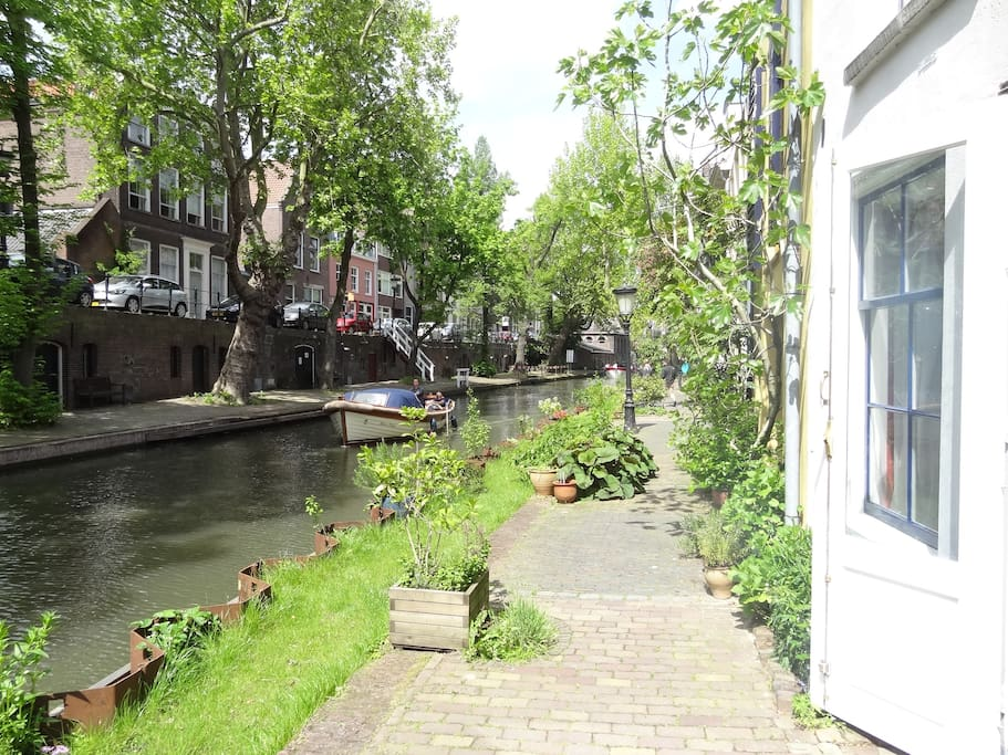 View on the historic canal, the Oudegracht.