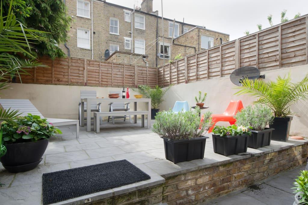 Bright luxury garden london flat apartamentos en for Alquiler piso londres