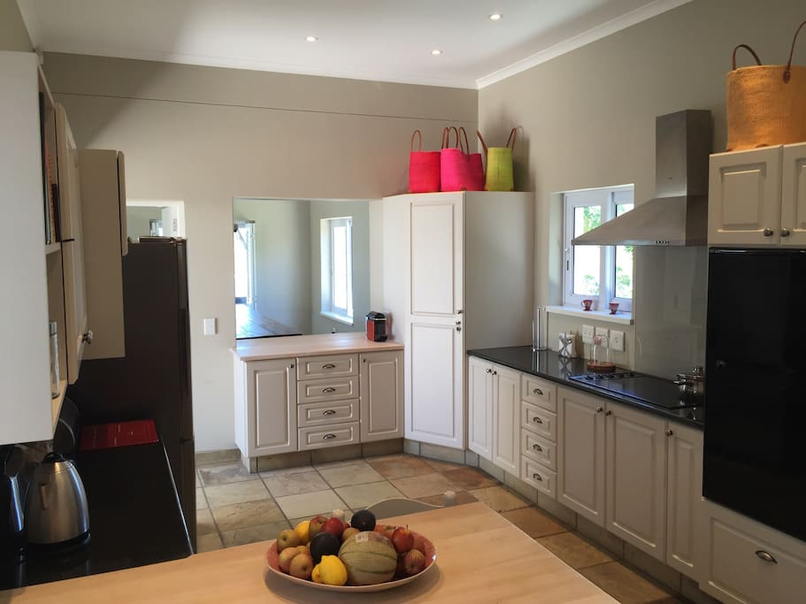 Large open plan kitchen, great quality cookware and utensils. Nespresso coffee machine