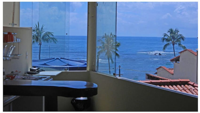 Na 1a praia com vista para o mar - Cairu - Appartement