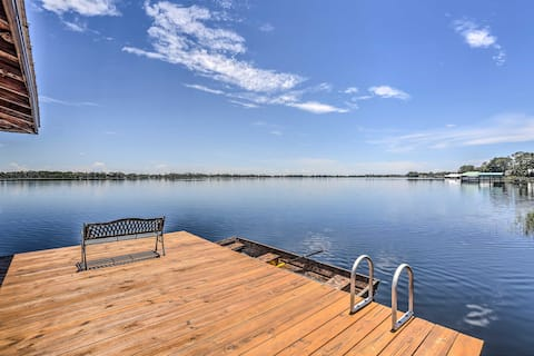 Waterfront Lake Placid Home w/ Game Room & Dock!