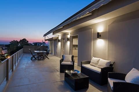 Penthouse mit Meerblick und toller umlaufender Terrasse