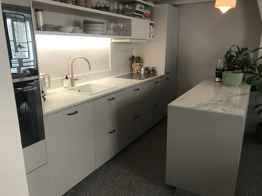The kitchen is new.