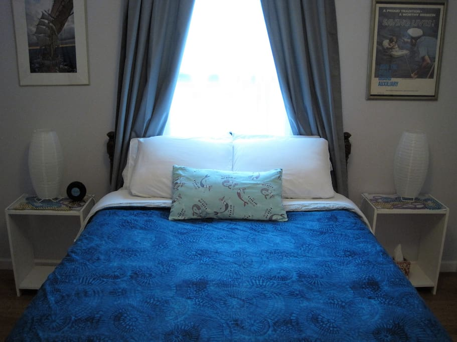 The double bed sleeps two guests - or just one guest who likes to stretch! The sheets and duvet are 100% cotton for comfort and temperature control.