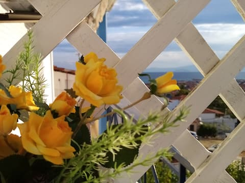 Summer house with view in Pefkochori