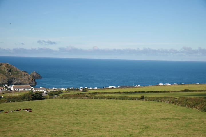 Sea views and sunsets, Tintagel. sleeps 2.