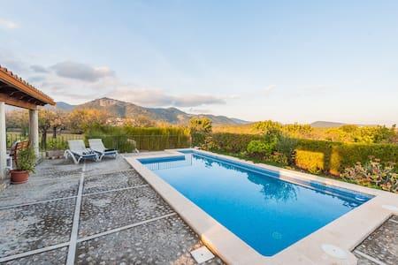 Can Gallu - Villa with views to the Tramuntana - Moscari - Hus