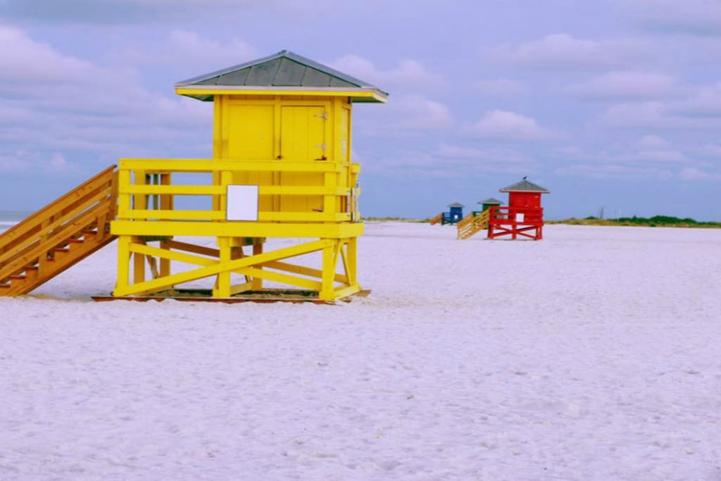 my favorite yellow lifeguard shack. LET'S GO VISIT>>>>> Are you coming????