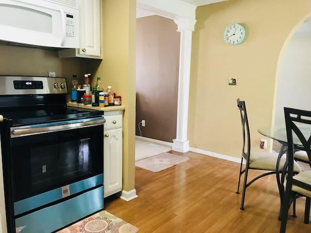 Kitchen where you can prepare breakfast