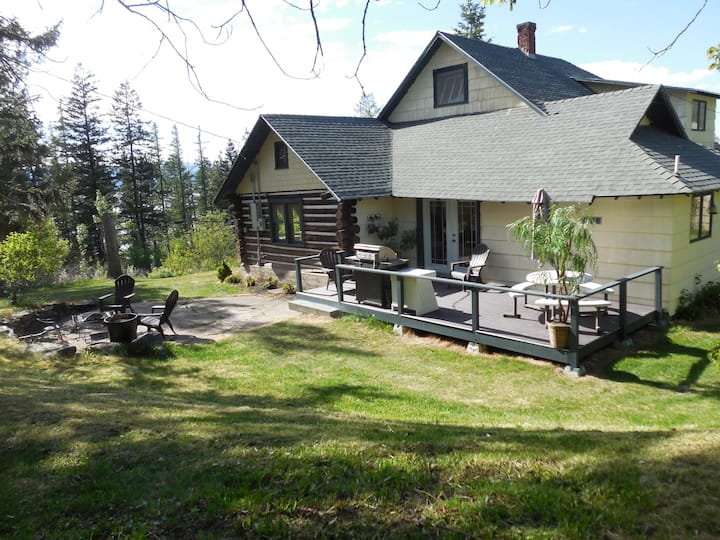 Family-friendly home over looking  Flathead Lake