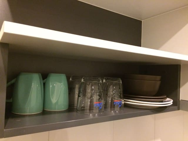 Kitchenware provided in the room