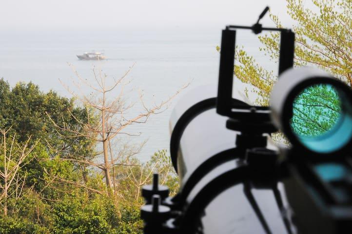 50米一线海景套房!北海老街金滩旁!天文望远镜!紧邻涠洲岛水上飞机候机大厅!