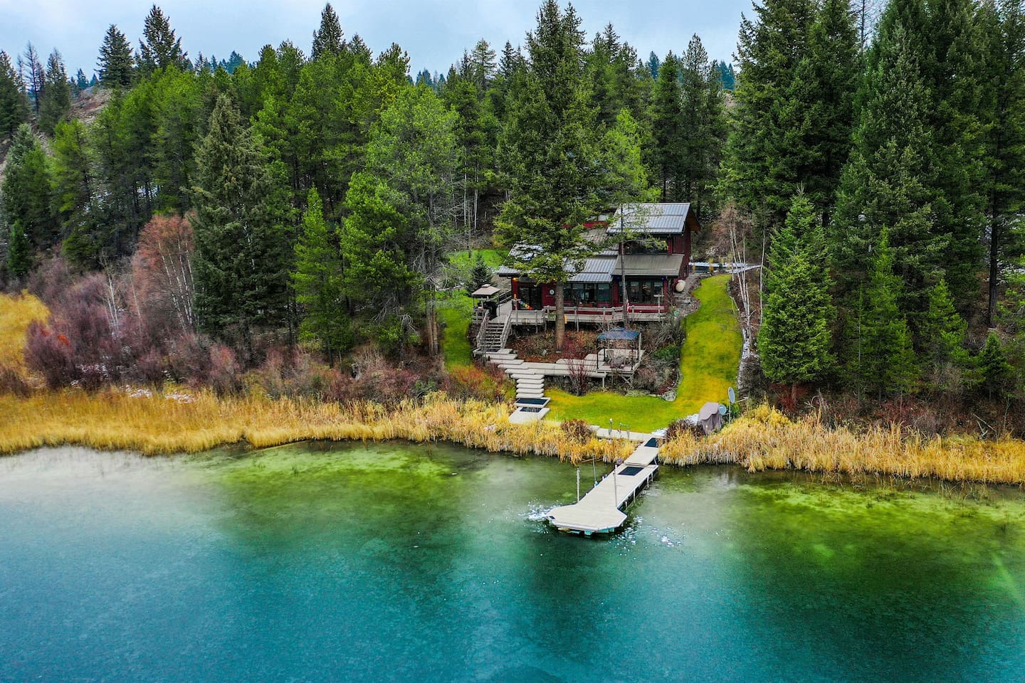 Four acres on a private lake in Whitefish, Montana.