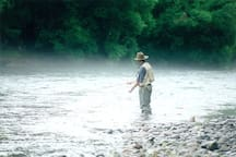 Fly fishing at Ribbonwood