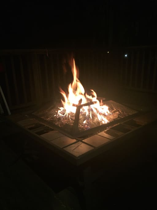 Outside fire pit for those relaxing nights
