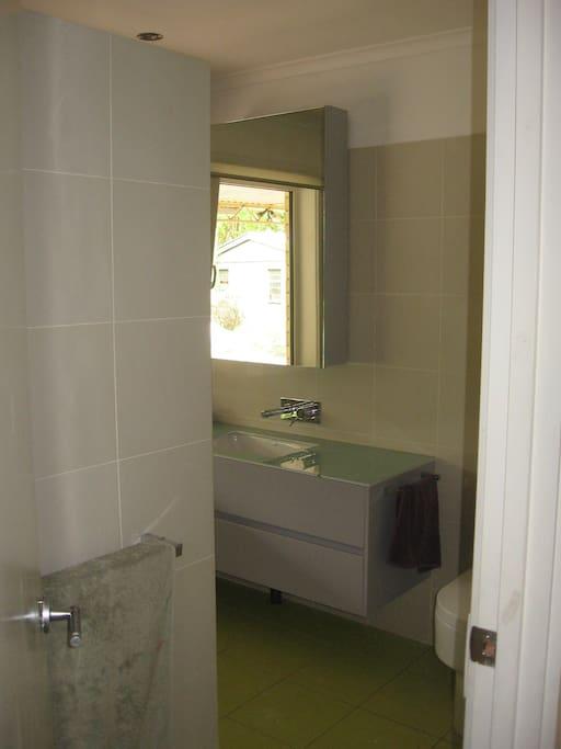 Modernised bathroom.