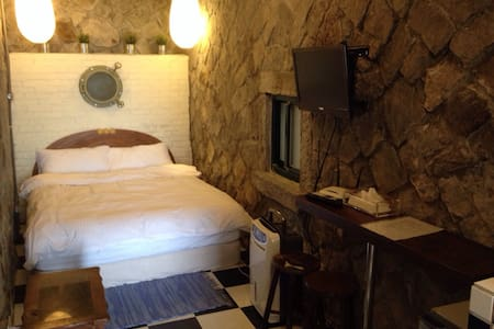 Walk Inn 3x3-Traditional Stone Room - Ruifang District