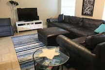 Large leather sectional