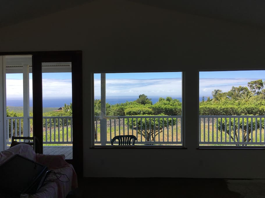 View of South Point coast from living room