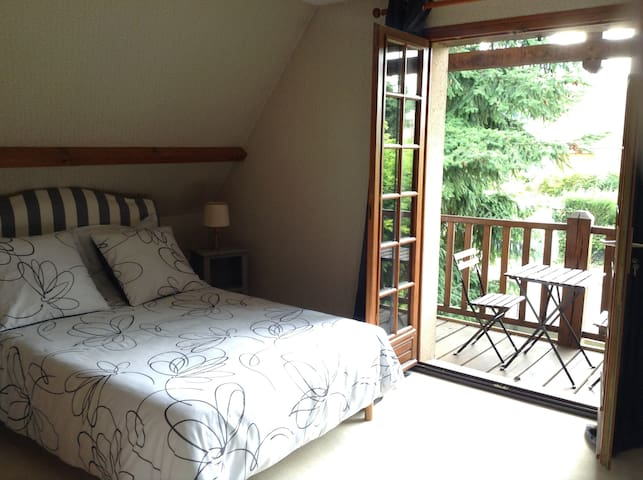 large and comfortable private bedroom with balcony