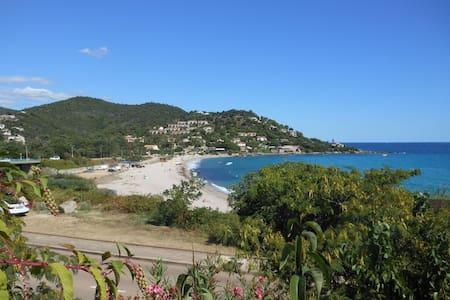 studio à 50 m de la plage grande terrasse vue mer