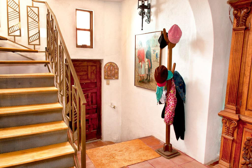 Entry Way (has since been painted with bright fuschia)