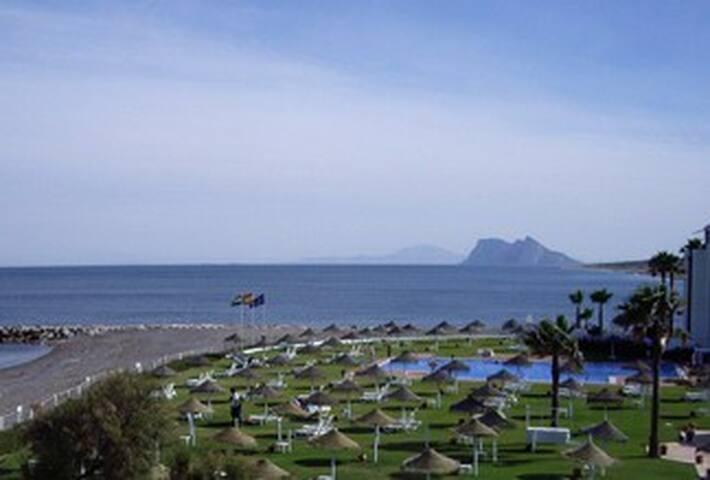 Modern beach apartment views to Gibraltar/Africa