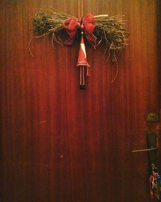 The door of my home at the 2nd floor....