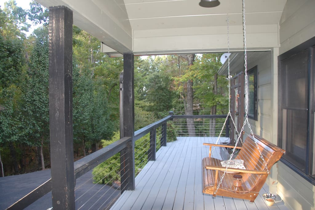 360 degree wrap-around porch offers space on the outside of the house too.
