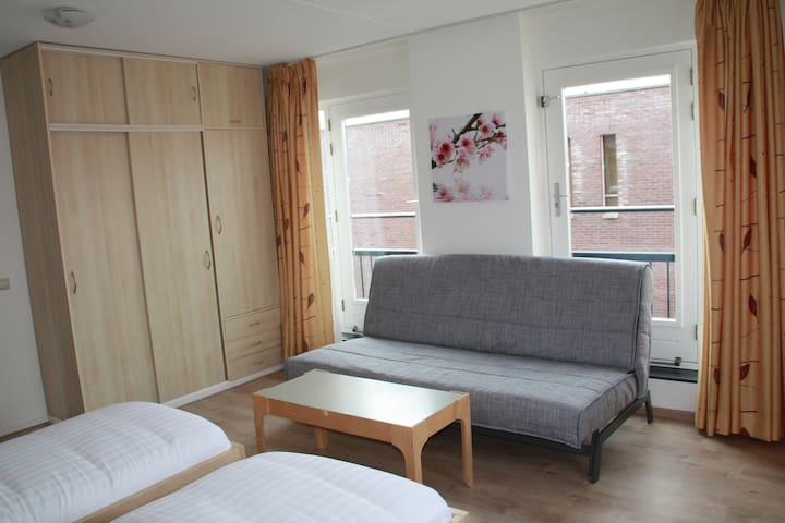 Two seprate beds and sofa - Hoofddorp - Bed & Breakfast