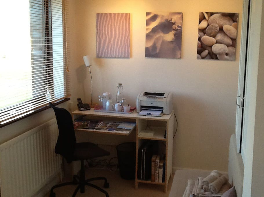 Bedroom 1 - comfortable workspace, perfect for those admin. essentials.