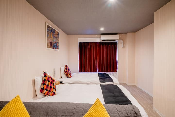 (HOTEL PAGODA) Low Price Suite Twin Room in Nara
