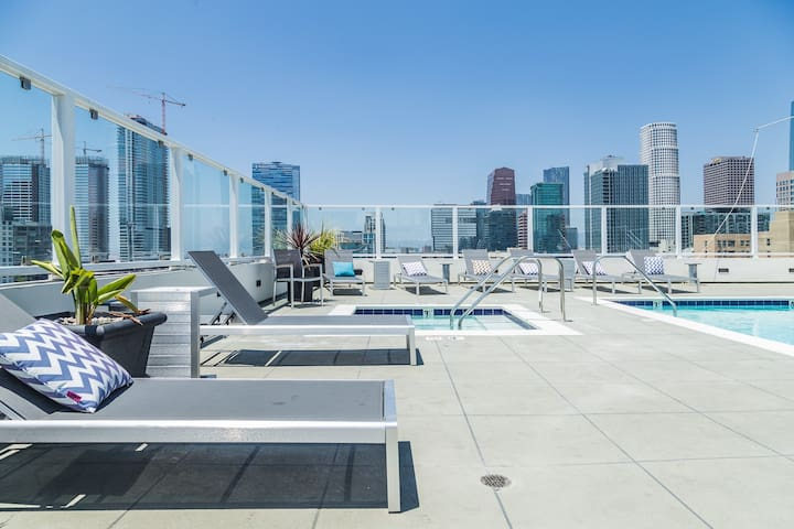 NEW-PENTHOUSE-HUGE ROOF TOP-DOWNTOWN-STAPLES CENTR