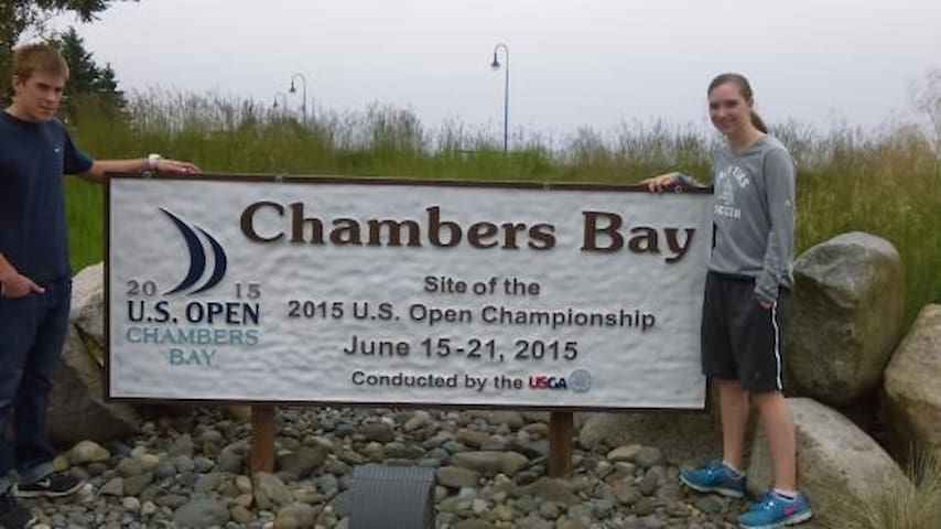 Walk to Chambers  Bay-US Open