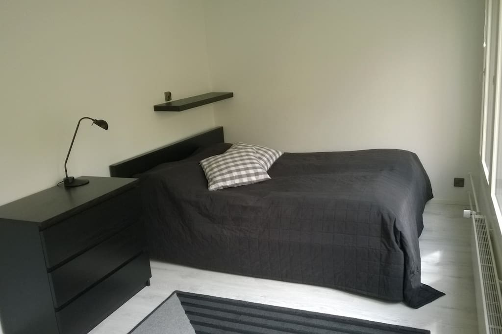 The large and comfortable a double bed.