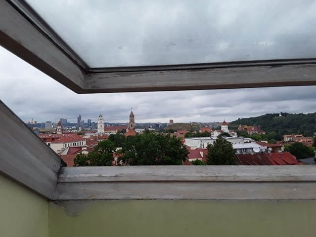 A flat with great views in the Oldtown of Vilnius.