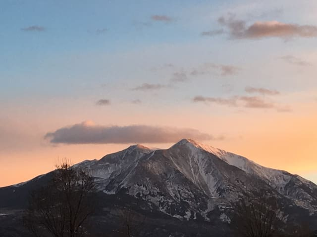 Mt. Sopris View from backyard