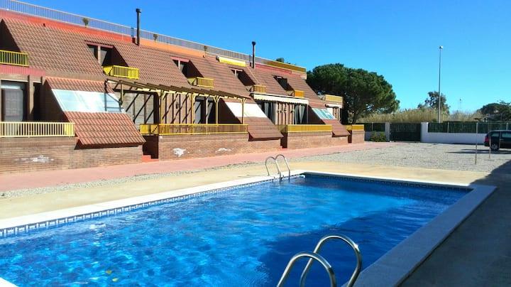 Apartment duplex with pool