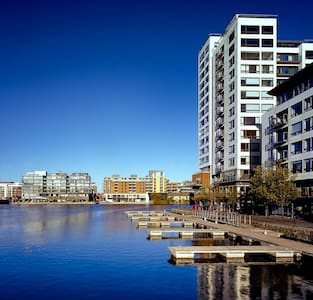 Panoramic views of Grand Canal Dock