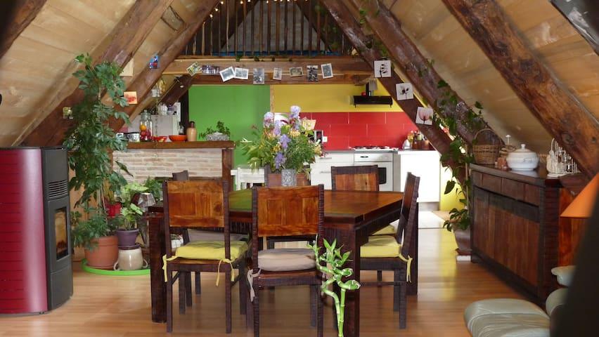 grange rénovée entre lot et aveyron - Causse-et-Diège - Rumah