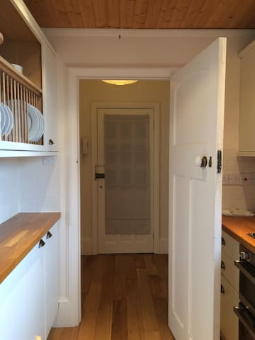 Leading to galley kitchen