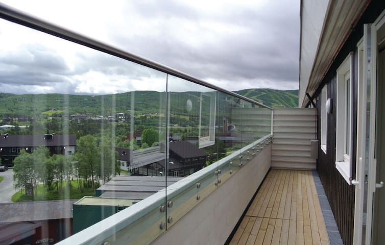 The back terrasse with a wonderful view.