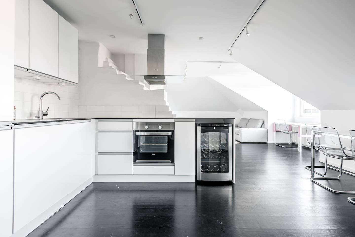 Open space design loft with top class kitchen