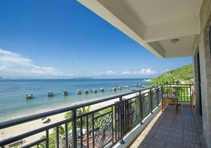 蜈蚑洲岛海域一线海景,两房一厅套房 - Sanya
