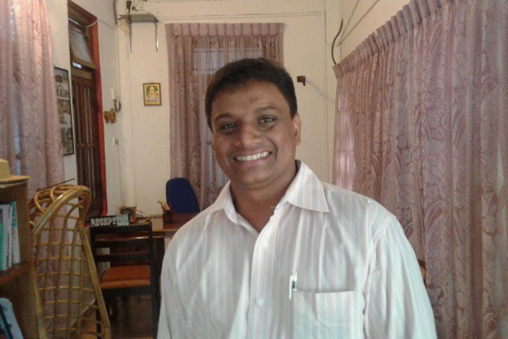 this is Mr. Ajith, the owner. He is keen to ensure that you have  a pleasant stay at his guest house.