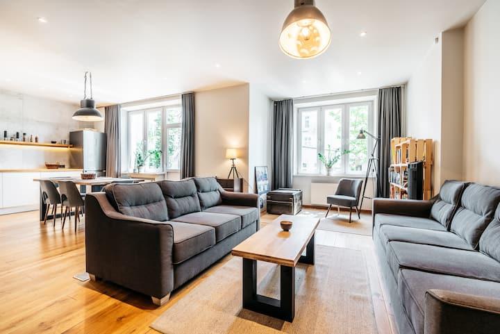 Designer loft style flat